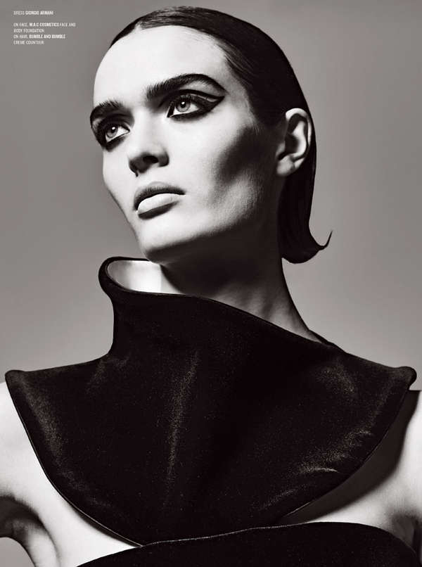 Dramatic Grayscale Editorials