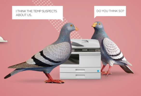 Interoffice Love Bird Ads