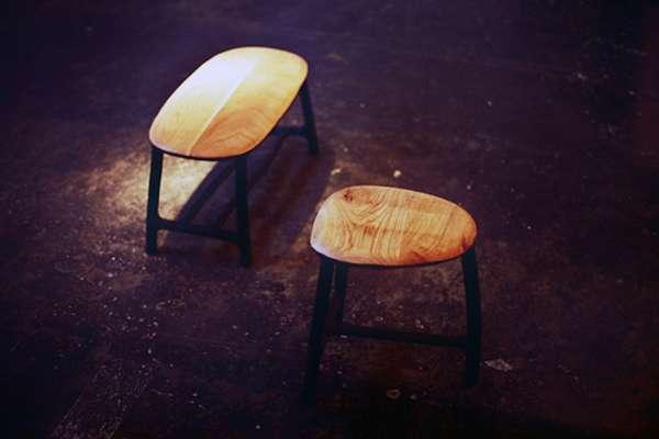 Minimalist Wooden Stools