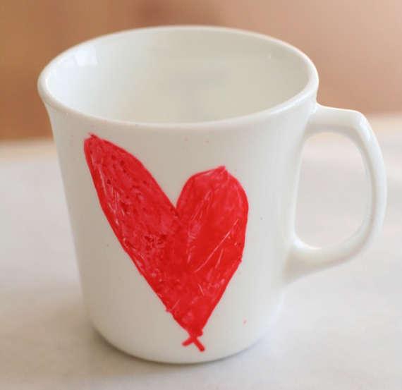 Darling DIY Sweetheart Mugs