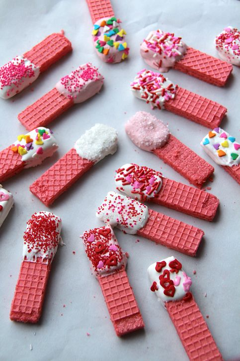 Sprinkled Wafer Confections