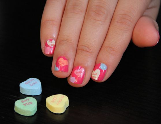 Candy Heart Manicures