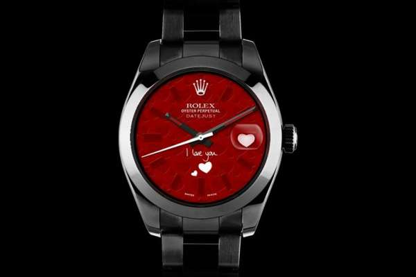 Etched Heart Watches