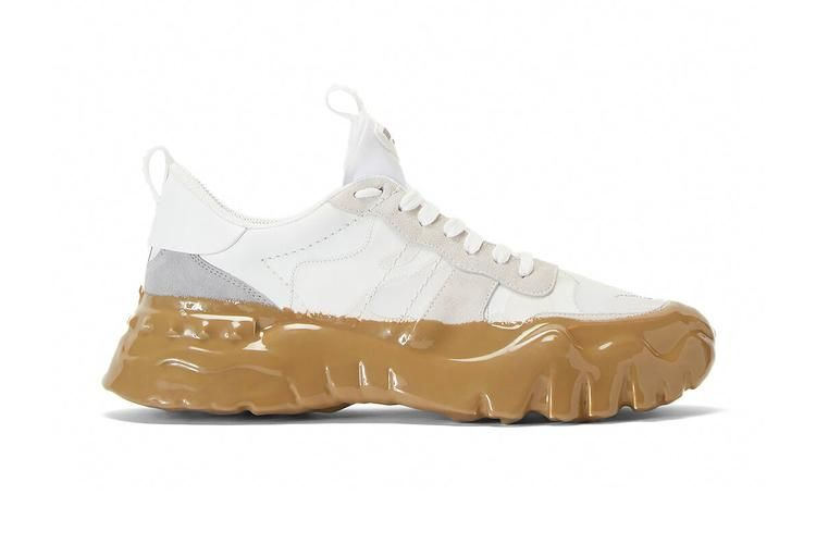 Faux Mud-Covered Sneakers