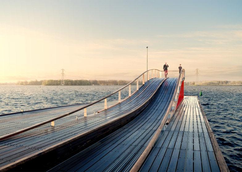 Elegant Wave-Shaped Piers