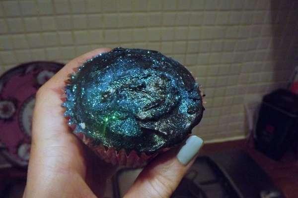 Celestial Galaxy Cupcakes