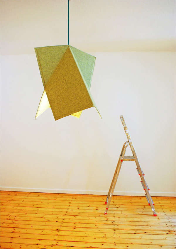 Folded Felt Lighting