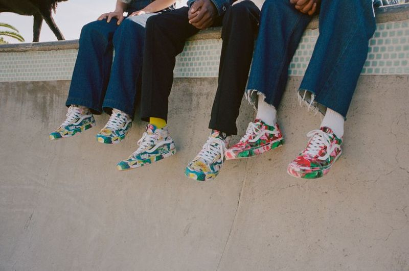 Collaborative Vivid Skate Footwear