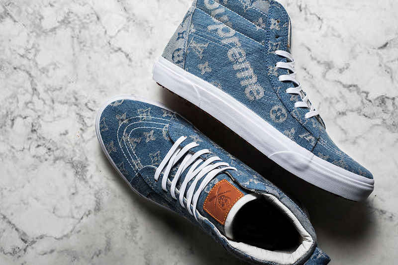 Denim Streetwear-Branded Sneakers