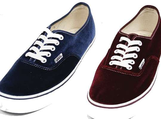 ea78ddbb71e Plush Velvet Kicks   vans authentic satin