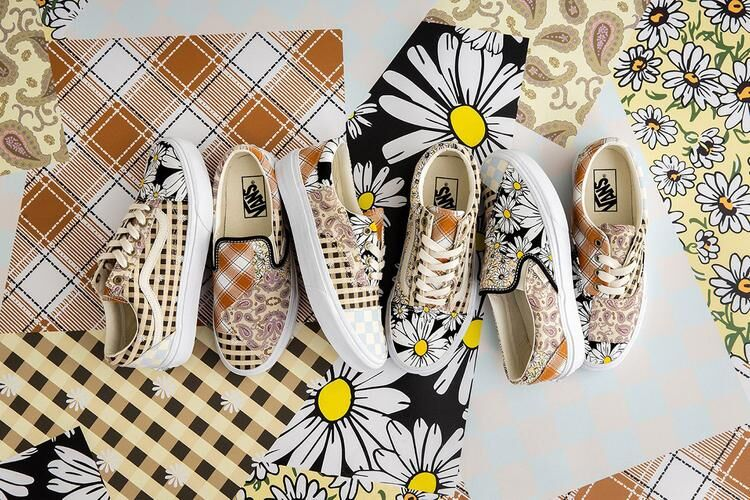 Clashing Patchwork Springtime Sneakers