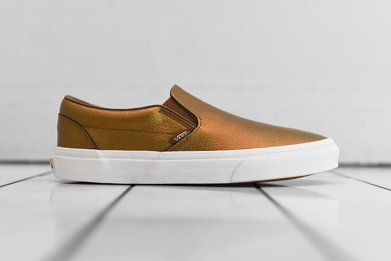 Bronze Slip-On Sneakers