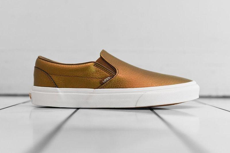 Bronze Slip-On Sneakers