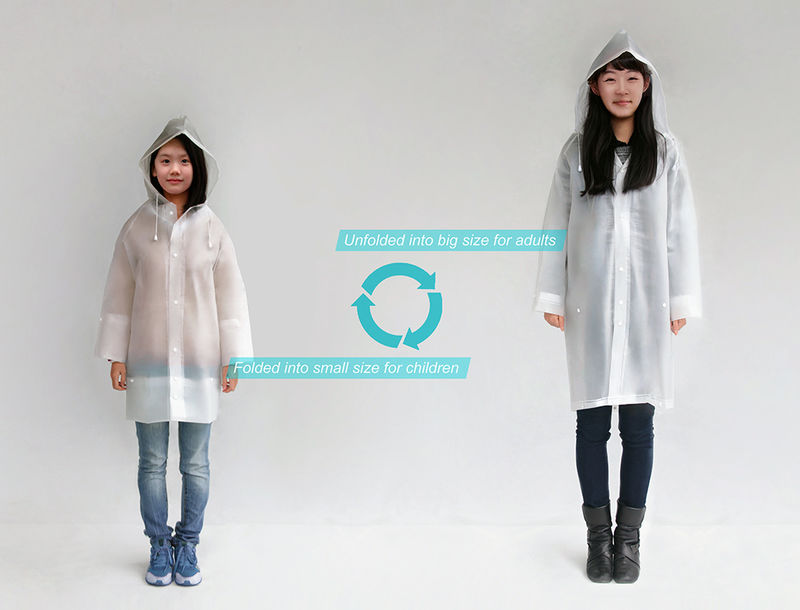 Size-Adjusting Raincoats