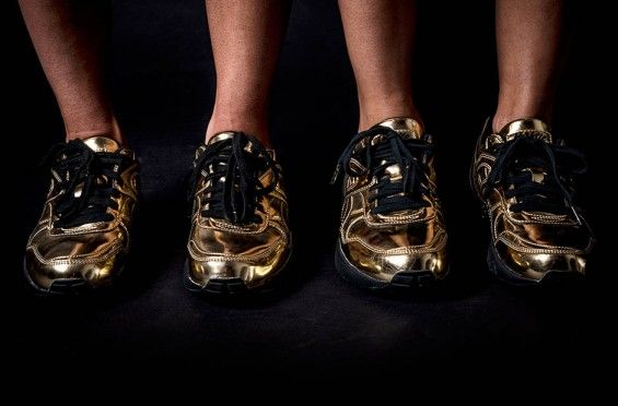 Sporty Gilded Sneakers