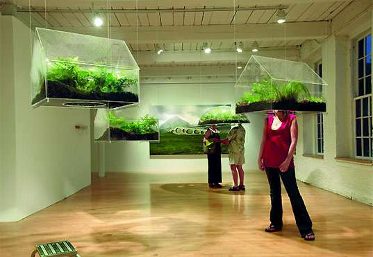Hanging Greenhouses Vaughn Bell S Exhibit Puts Eco In