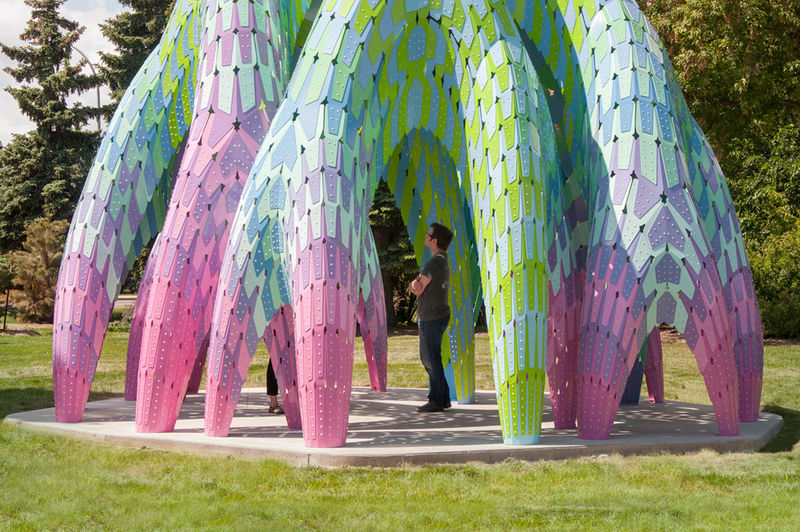 Public Art Structures Vaulted Willow