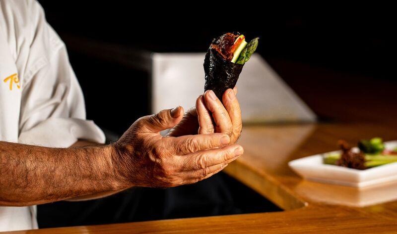 Plant-Based Beef Sushi
