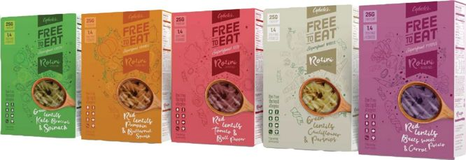 Colorful Plant-Based Pastas