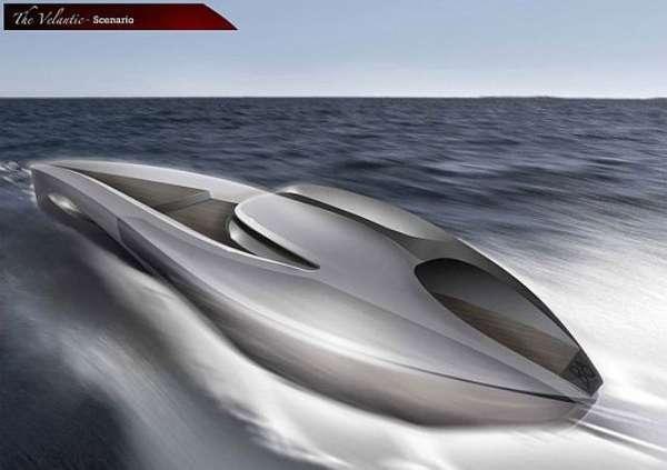 Bullet Train Yacht Concepts