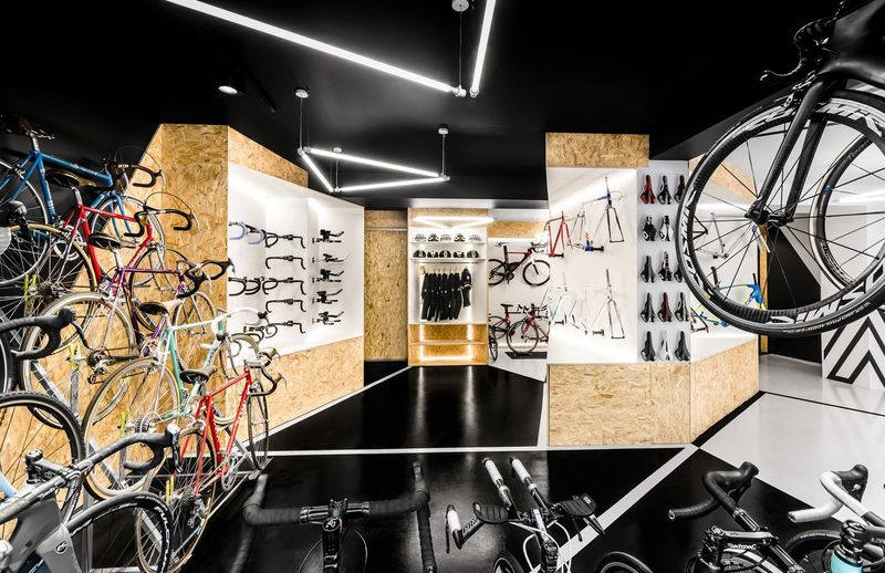 Triangular Cycling Shops