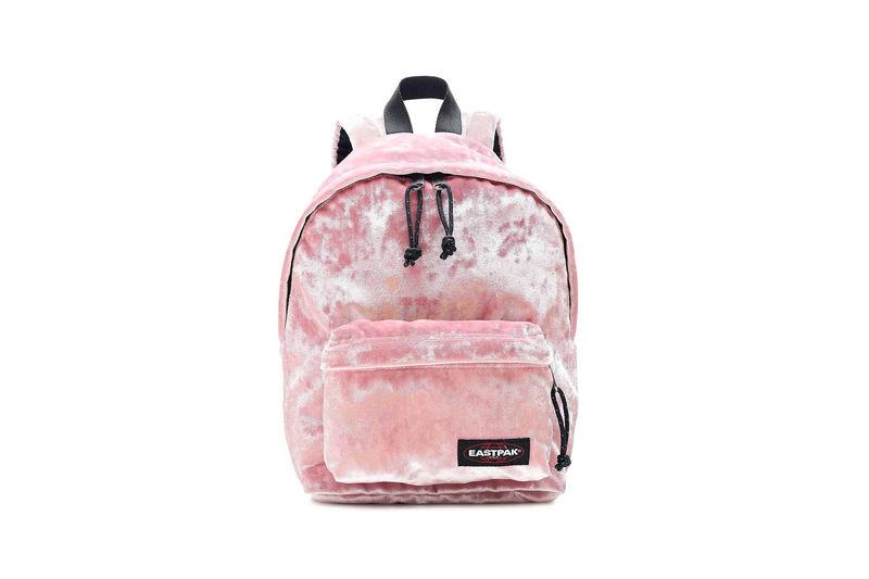 Pink Crushed Velvet Backpacks