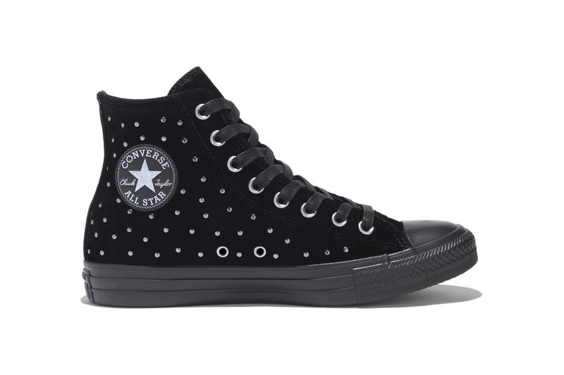 Studded Velvet High-Tops