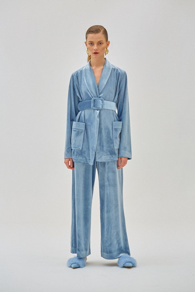 Sleepwear-Inspired Velvet Suits
