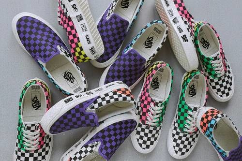 Colorful Checkerboard Sneakers