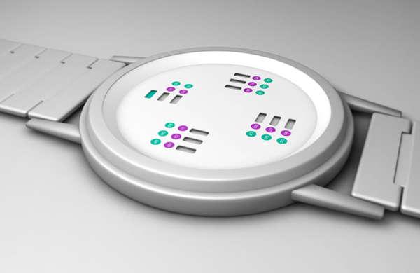 Chromatic Minimalist Timekeepers