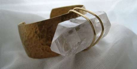 Strapped Crystal Cuffs