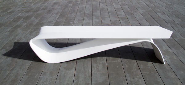 Minimalist Pin-Shaped Benches