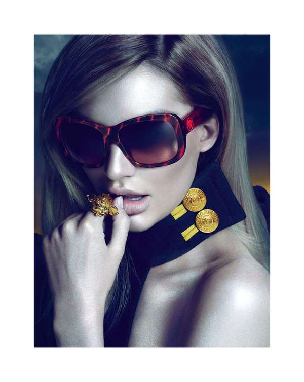 80ff0d72bc01 Sultry Sunglasses Ads : Versace Eyewear Fall 2011
