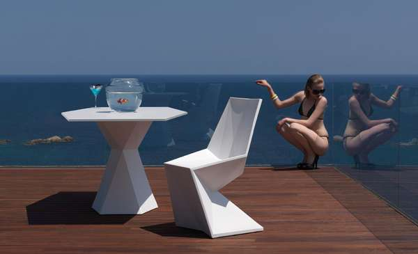 contemporary geometric furnitures vertex collection for vondom. Black Bedroom Furniture Sets. Home Design Ideas