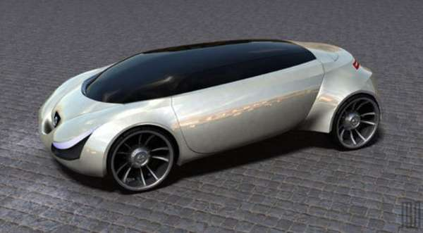 Pill Shaped Concept Cars Vertical Concept Car