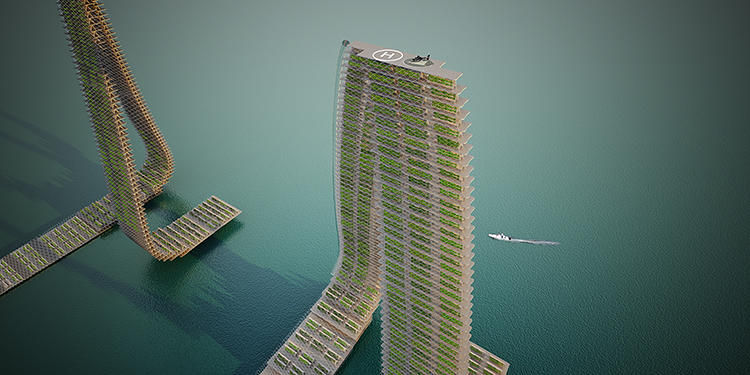 Floating Agricultural Towers