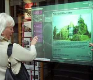 Interactive Shopping Touch Screens