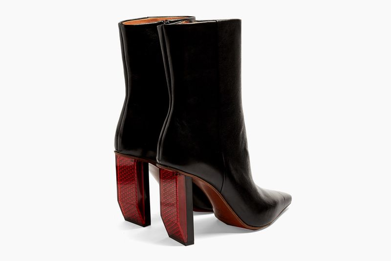 Reflector-Heel Ankle Boots