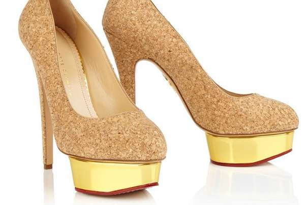 Golden Cork Champagne Pumps