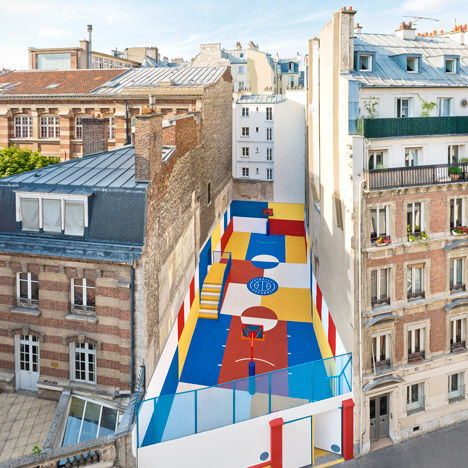 Vibrant Basketball Courts