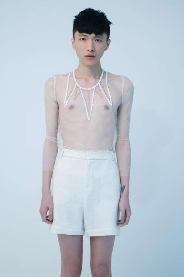 Eccentric All-White Fashions