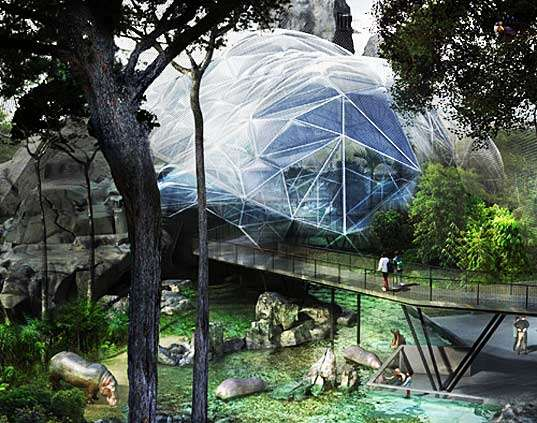 Tropical Ecostructures Heart Of Africa Biodome Set For Opening At - Heart-of-africa-biodome-at-chester-zoo