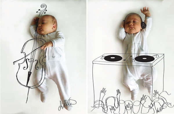 Musical Baby Portraits