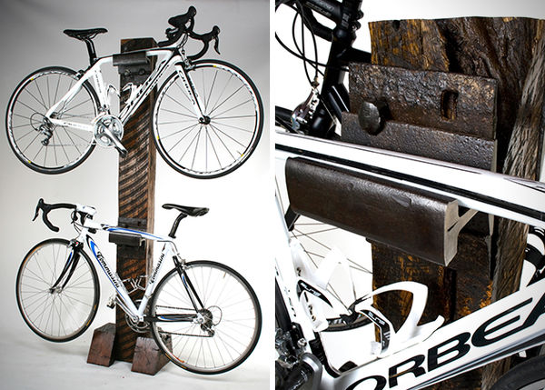 Rustic Lumber Bike Racks