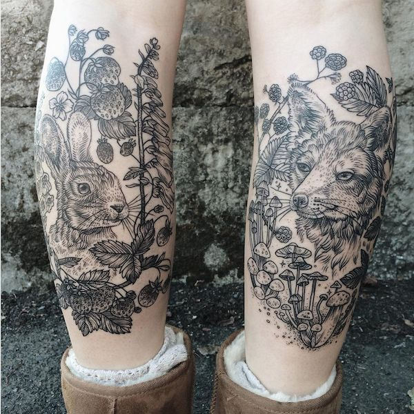Naturalistic Vintage Tattoos