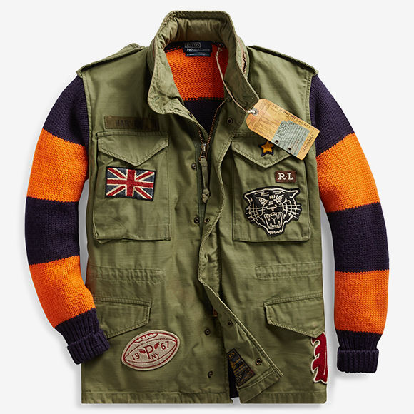 Upcycled Militaristic Graphic Apparel