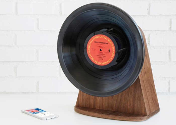 Upcycled Vinyl Record Speakers