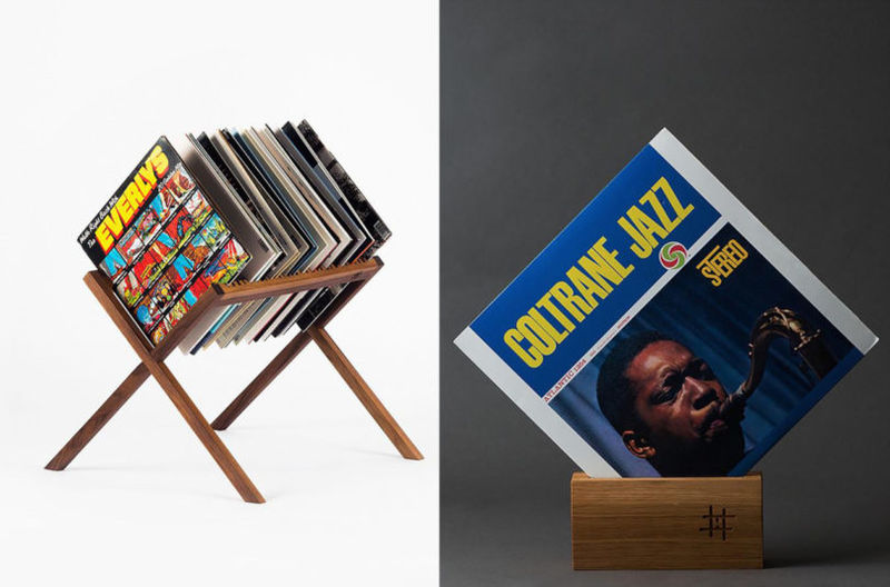 Midcentury-Inspired Record Tables