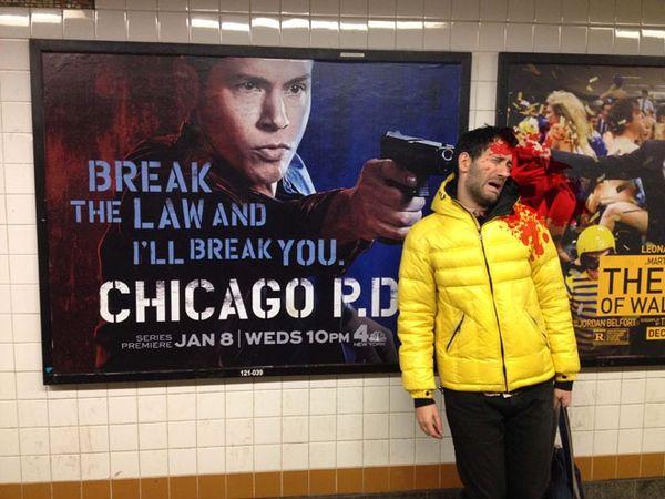 Literal Violent Subway Ads