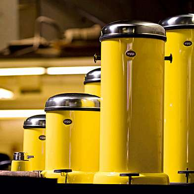 Taxi-Inspired Garbage Bins